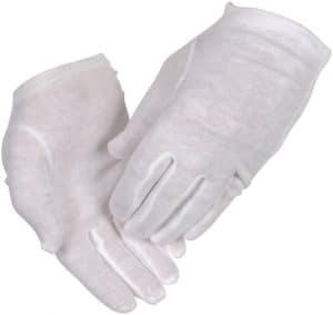 Thor Handske, Strålesyet hvid bomuld str. 7,9,10